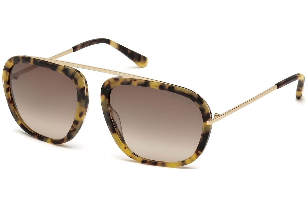 cfee7cd26caf3 Buy Tom Ford Johnson FT0453 C57 53F (blonde havana   gradient brown)  Sunglasses