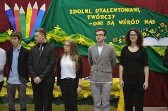 Photo: Laureaci Wojewódzkich Konkursów Przedmiotowych 2014 - E. Sochacki 3c (drugi od lewej) i W. Suchowolec 3d (pierwsza z prawej)