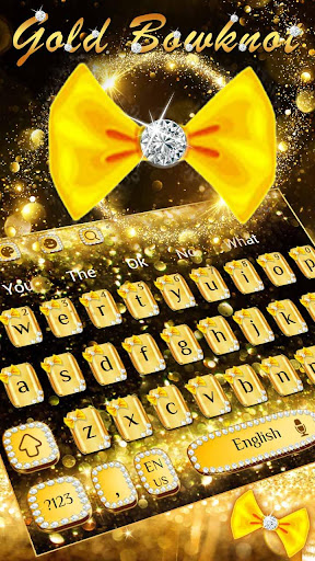 Gold Glitter Bowknot Keyboard cheat hacks