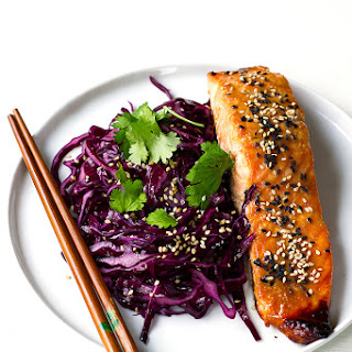 Miso Salmon with Sesame Red Cabbage.