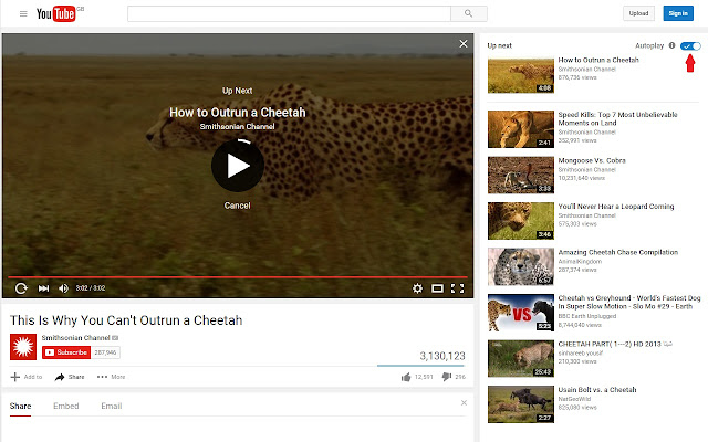 Disable Autoplay on YouTube