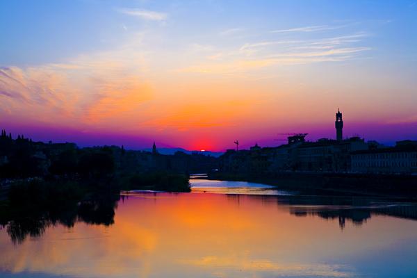 Tramonto sull'Arno di ev84