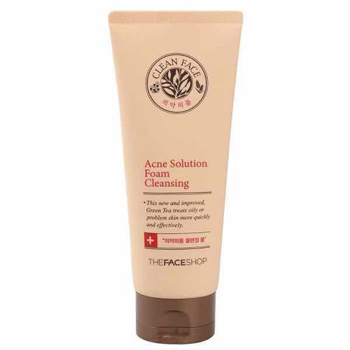 Sữa rửa mặt trị mụn The Face Shop Clean Face Acne Solution Foam Cleansing