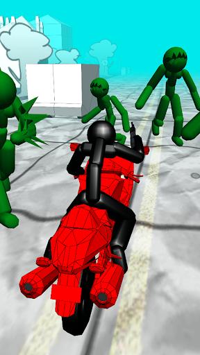 Stickman Zombie: Motorcycle Racing  captures d'écran 1