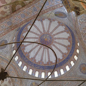 The Blue Mosque by Shelina Khimji - Buildings & Architecture Places of Worship ( ceiling, blue, mosque, popular, turkey, istanbul, worship,  )