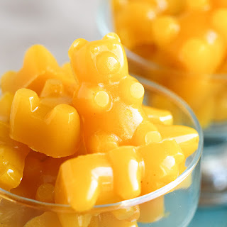 Healthy Homemade Lemon Gummy Bears.