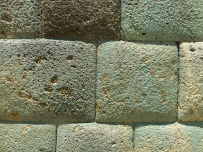 Photo: Closeup of Inca masonry