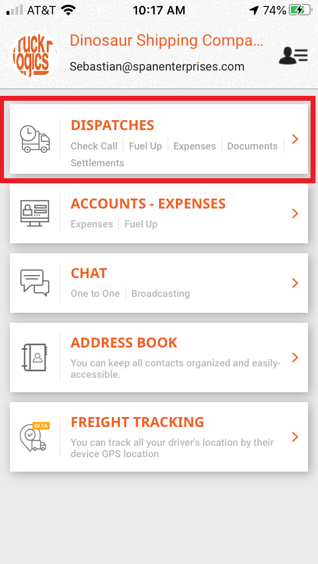 TruckLogics mobile app trucking management software tutorial