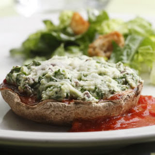 Cheese-&-Spinach-Stuffed Portobellos.