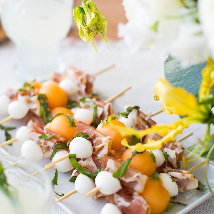 Prosciutto & Melon Skewers Recipe