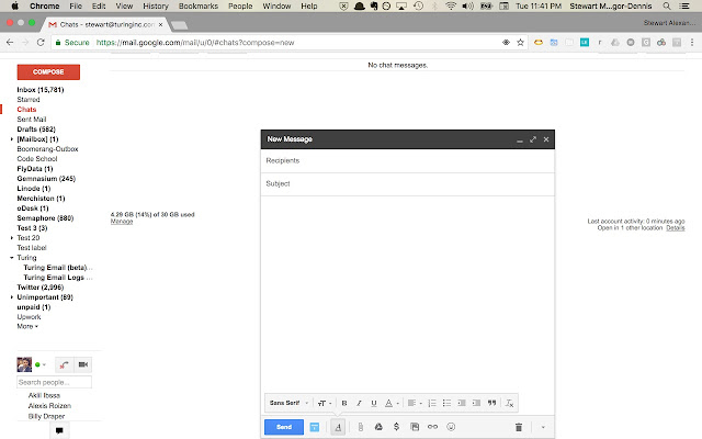 Turing Gmail Extension