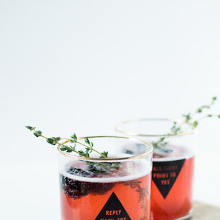 Blackberry Thyme Champagne