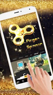 Gold Finger Spinner Keyboard Theme - náhled