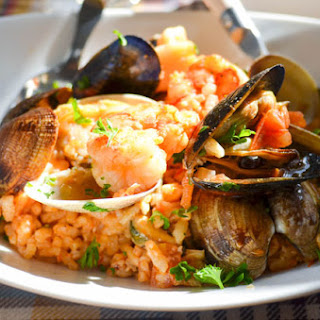 Tomato Seafood Risotto Recipes