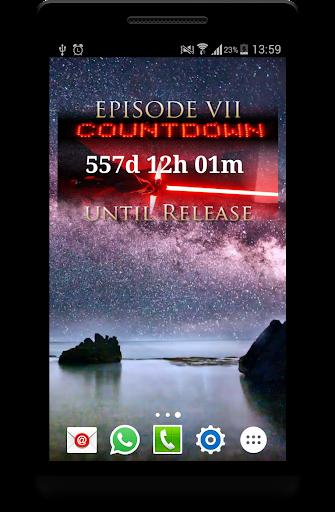 Episode VII Countdown Widget