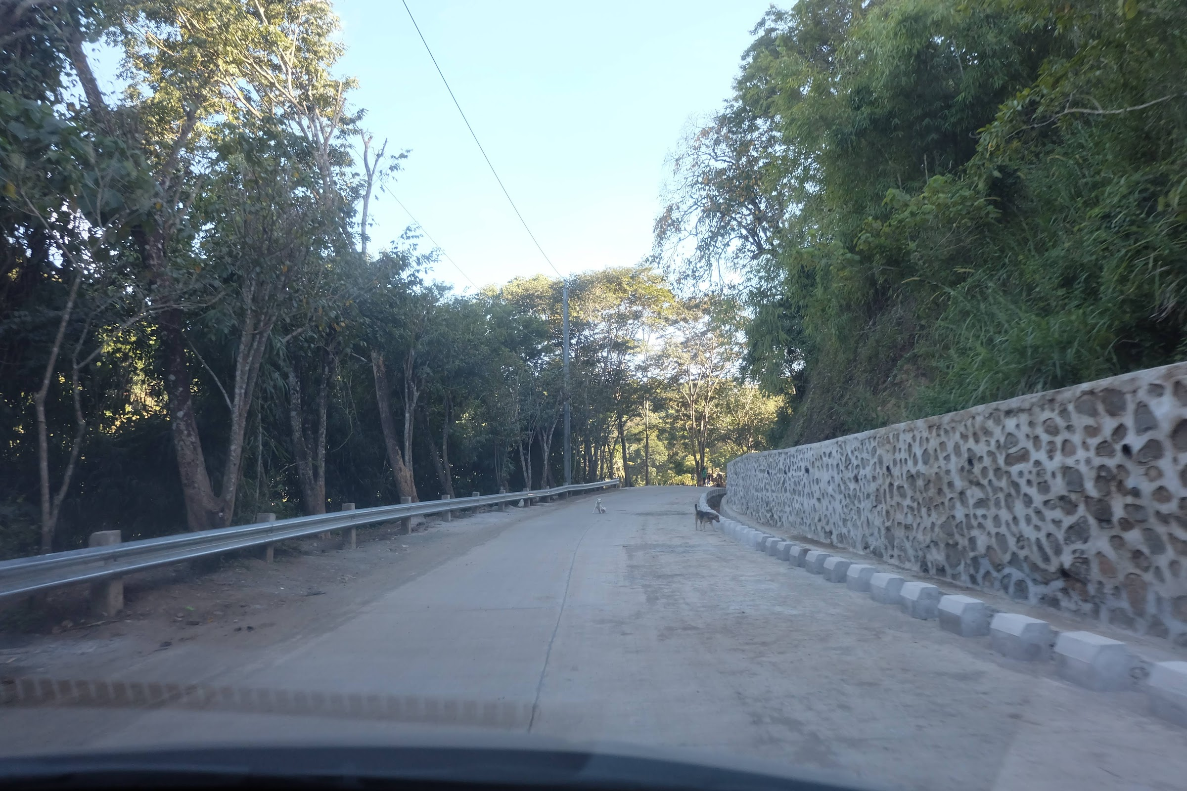 The cemented road to Daranak Falls Tanay