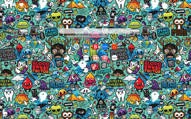 Doodle Art Wallpaper Hd Background New Tab