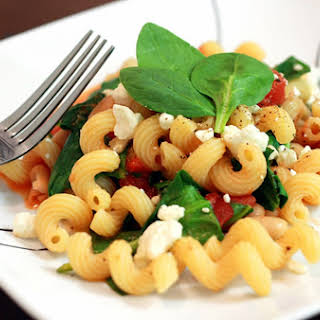 Pasta with Feta and White Beans.