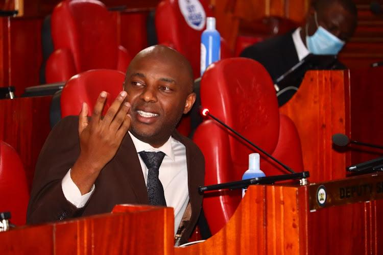 Senate Majority Whip Irungu Kang'ata.