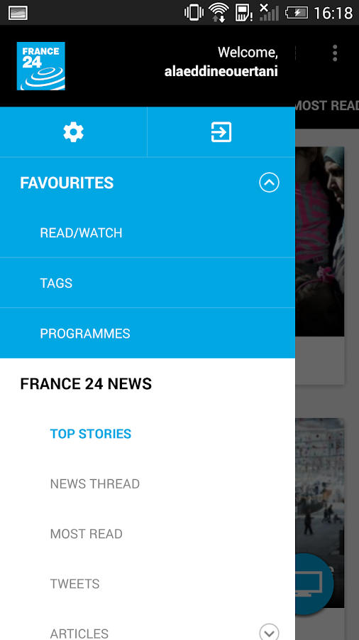FRANCE 24- screenshot