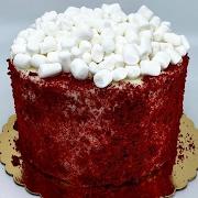 Red Velvet Cloud Cake