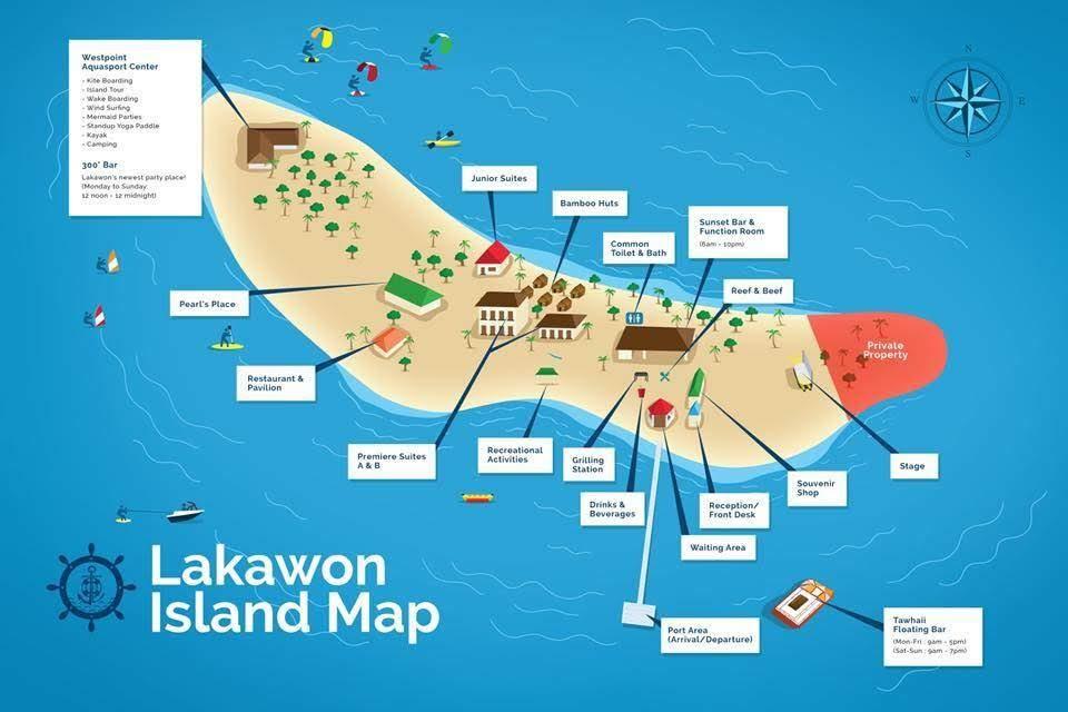 Lakawon Island Map
