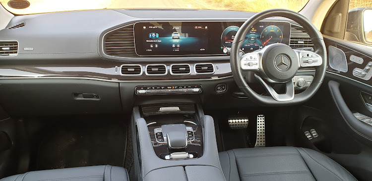 The latest Mercedes MBUX infotainment is part of the digitized setting. Picture: DENIS DROPPA