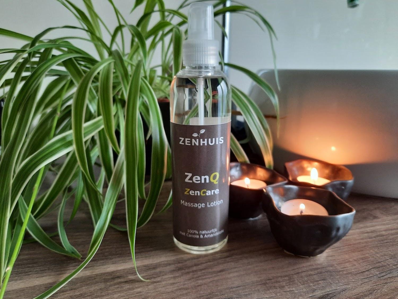zenhuis zenq massage lotion zencare