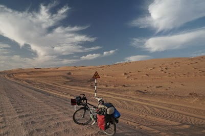 Sandpiste in der Wahiba Wüste
