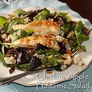 Blue Cheese, Apple, Cran-Cherry, Bacon and Marinated Chicken Balsamic Salad