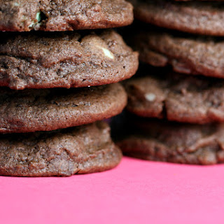 Chocolate Chocolate Mint Chip Cookies