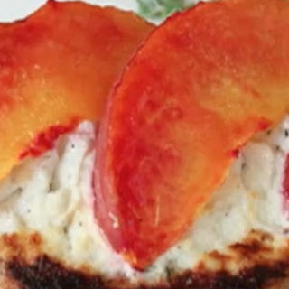 Peach and Goat Cheese Tartine