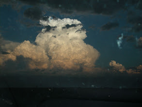 Photo: Driving back through the Texas Panhandle, this thunderhead followed me for 50 miles or more.