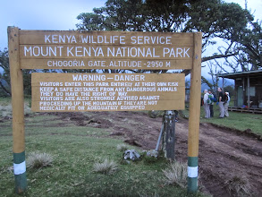 Photo: Chogoria Gate - Mount Kenya Bandas