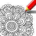 Mandala coloring pages - mandala art easy icon
