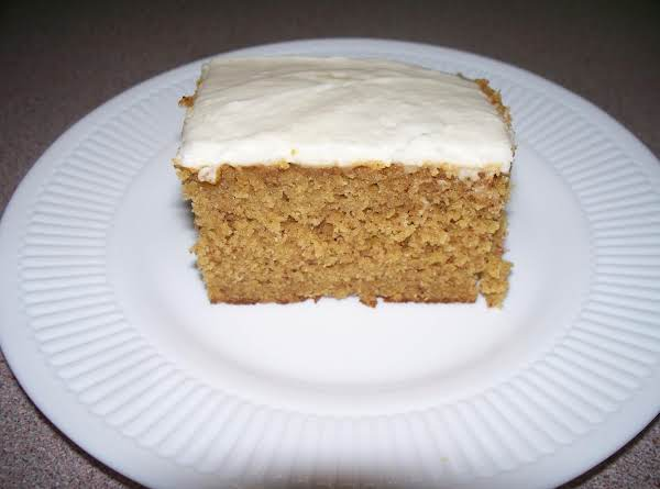 Spiced Pumpkin Cake With Cream Cheese Frosting