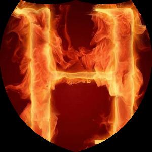 download Fiery letter H live wallpaper apk