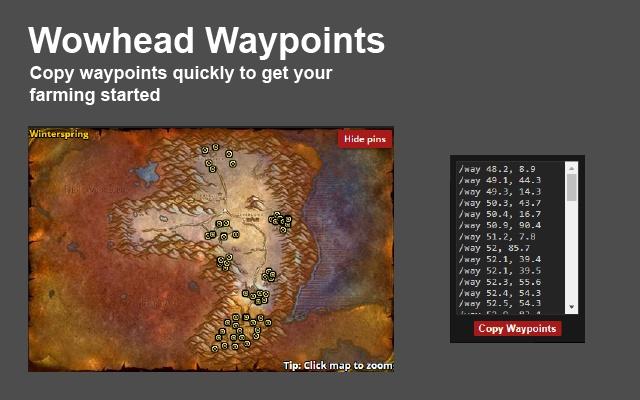Wowhead Waypoints