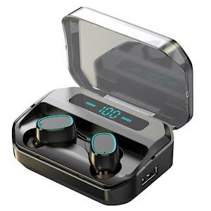 Casti wireless Bluetooth 5.0, M8, TWS, Negru