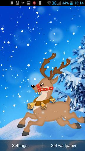 Sfondi Natalizi Renne.Renne Di Natale Sfondo Animato App Su Google Play