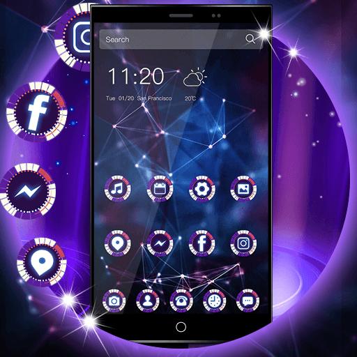 Neon Purple Tech Wallpaper