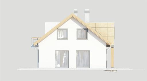 Adaś wersja B z pojedynczym garażem - Elewacja lewa