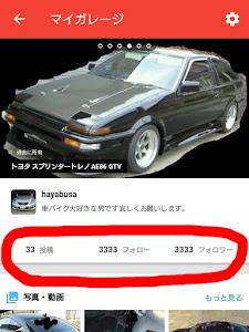 スプリンタートレノ AE86 GT-Vのカスタム事例画像 hayabusaさんの2018年09月17日22:28の投稿