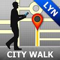 Lyon Map and Walks icon