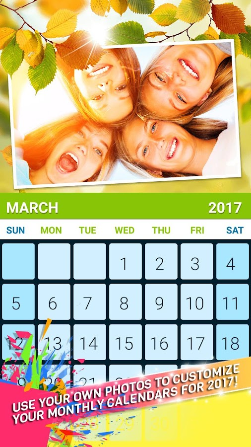 Photo Calendar Maker 2017 - Android Apps On Google Play