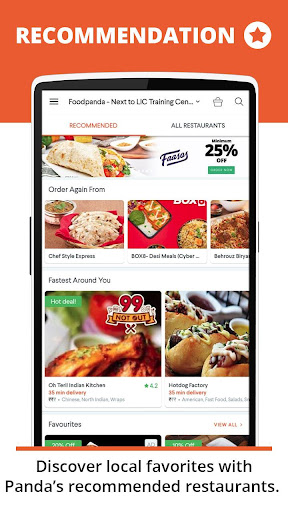 foodpanda: Food Order Delivery 2.5.2 screenshots 2