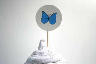 Photo: Butterfly topper from insects set