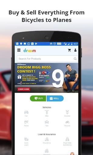 Droom: Used & New Car, Bike, Insurance, Loan & RTO 2.33.8 screenshots 1