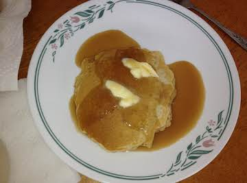 Scottish Pancakes With Butterscotch Sauce