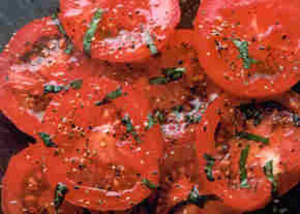 Tomato Slices With Basil-honey Vinaigrette Recipe